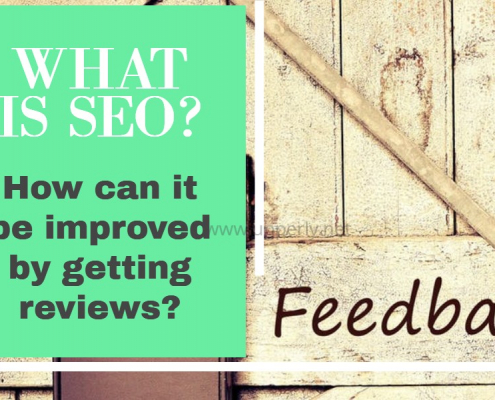 What is SEO and how can it be improved by getting reviews?